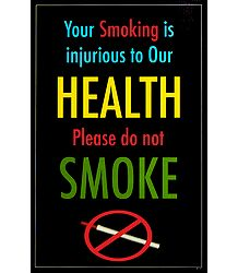 Do Not Smoke Poster