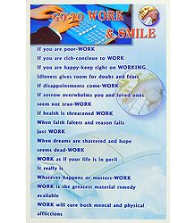 Work and Smile Poster