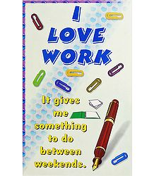 Love Work Poster