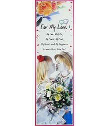 For My Love - Poster