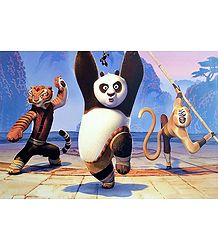 Kung Fu Panda with the Warriors - Poster