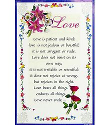 Love's Nature Poster - Shop Online