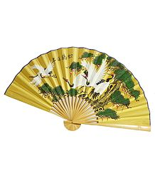 Painted Silk Wall Hanging Fan