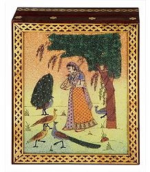 Ragini Kakubha - Jewelry Box with Gemstone Painting