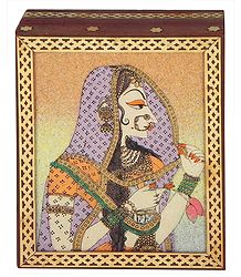 Bani Thani - Jewelry Box with Gemstone Painting