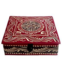 Embossed Leather Jewelry Box
