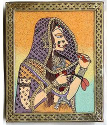 Rajput Queen on a Jewelry Box