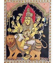 Goddess Durga - Kalamkari Paintings