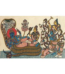 Lord Vishnu Resting on Sheshnaga