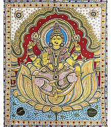 Mahalakshmi - Kalamkari Paintings