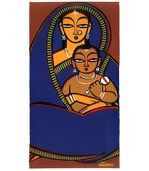 Mother and Child - Jamini Roy Painting