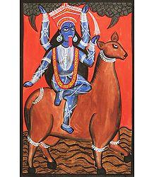 Goddess Kali - Kalighat Painting