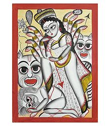 Buy Kalighat Painting of Goddess Durga