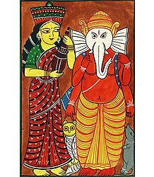 Lakshmi and Ganehsa