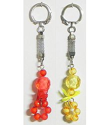 Balls of Fire - Set of Two Key Chains