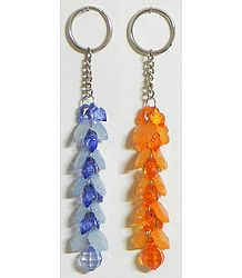 Fire and Ice - Set of 2 Key Rings