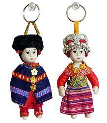 Cute Doll Key Rings