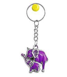 Acrylic Elephant Key Chain