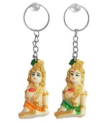 Set of 2 Bal Gopal Key Rings