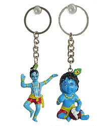 Set of 2 Krishna Key Rings