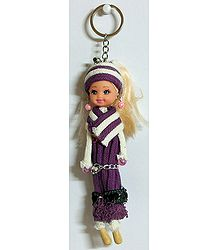 Plastic Girl Key Ring