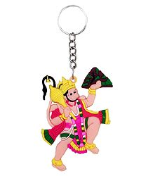 PVC Key Chain with Hanuman