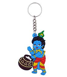 PVC Key Chain with Makhan Chor Krishna