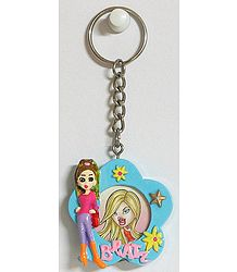 Key Chain with Synthetic Photo Frame