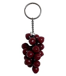 Key Chain with Bunch of Grapes