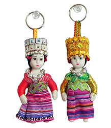 Cute Doll Key Rings