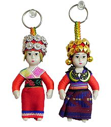 Buy Online Costume Doll Key Rings