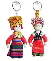 Buy Online Greece Doll Key Rings