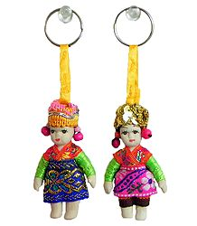 Spanish Dancers Doll Key Rings