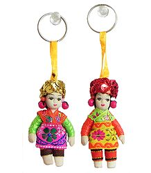 Spanish Doll Key Rings