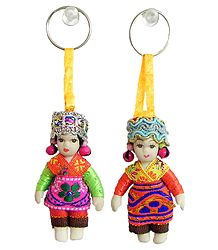 Dutch Doll Key Rings