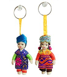 Set of 2 Russian Doll Key Rings