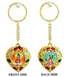 Double Sided Key Ring - Krishna and Nathdwara