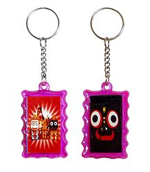 Double Sided Acrylic Jagannath Key Ring