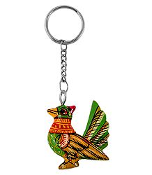 Wooden Bird Key Chain