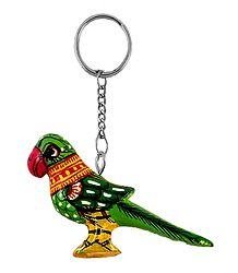 Wooden Parrot Key Chain