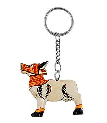 Wooden Cow Key Chain