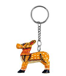 Wooden Deer Key Chain