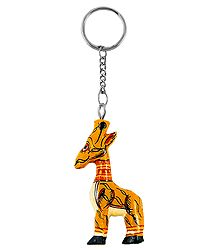 Wooden Girffe Key Chain