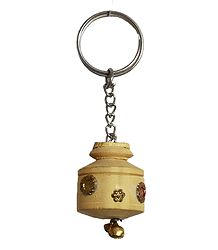 Metal Key Chain with Wooden Kalash