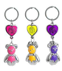 Key Chain with Colorful Acrylic Teddy