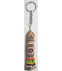 Multicolor Beaded Rocket Key Ring