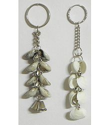 Shell Key Chains with Bells