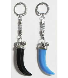Colorful Tusk Shaped Key Rings - Set of Two