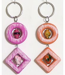 Set of 2 Acrylic Key Chains