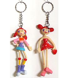 Set of 2 Synthetic Key Ring